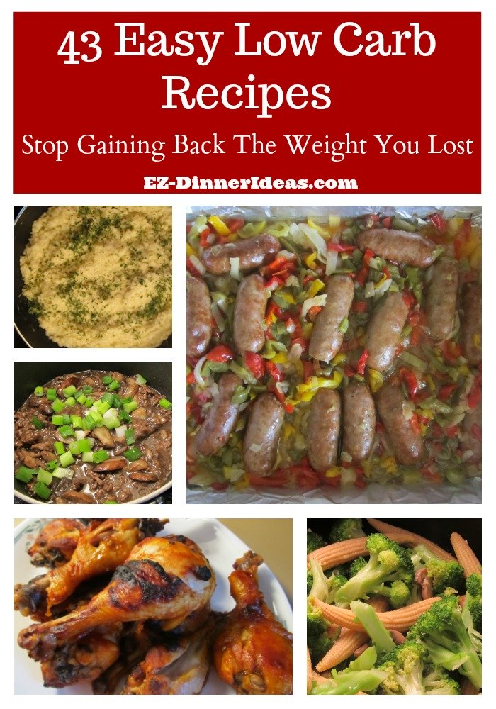 Easy Low Carb Meals | 43 Recipes Stop You Gaining Back The Lost Weight