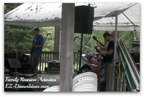 Family Reunion Activities - Local Band Performance