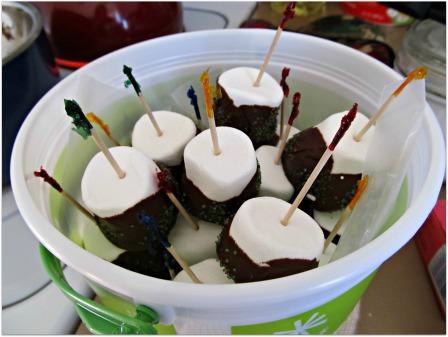 Chocolate Marshmallow Pops