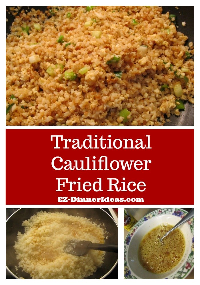 This fried rice recipe easy uses traditional Chinese method to cook cauliflower rice.  It is authentic, delicious and guilt-free.  It is a MUST try.