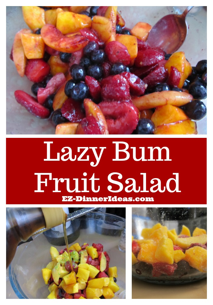 This frozen fruit salad recipe is crazily easy.  Looking for ways to eat healthy is within your fingertips.  And it is super refreshing and delicious.