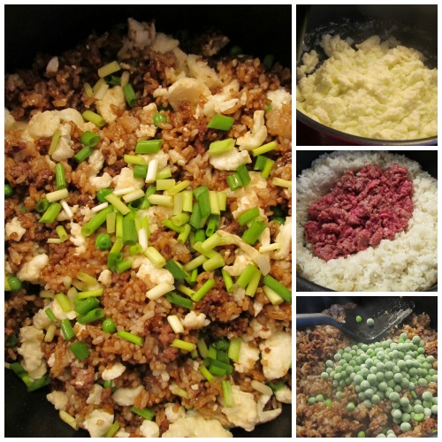 Ground Beef Egg White Fried Rice, a Hong Kong style fried rice with an American look.  A great tasty Chinese dinner for meat eater.