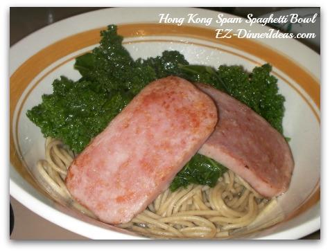 Hong Kong Spam Spaghetti Bowl