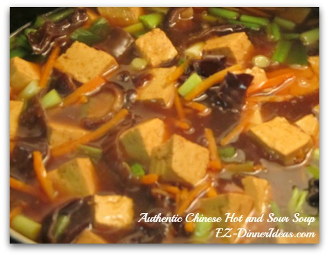 Authentic Chinese Hot and Sour Soup - switch up the ingredients