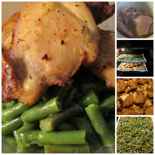 Italian Dressing Roasted Chicken Green Beans, a super easy marinade for both meat and vegetables gives you a very low maintenance, tasty and juicy family dinner.