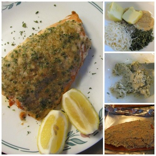 Keto Garlic Parmesan Butter Baked Salmon, a very flavorful seafood dish, especially for salmon lovers.