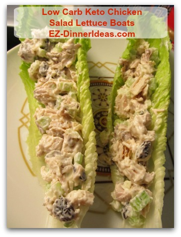 Low Carb Keto Chicken Salad Lettuce Boats