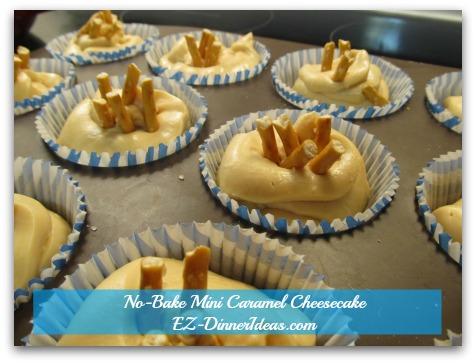 No-Bake Mini Caramel Cheesecake