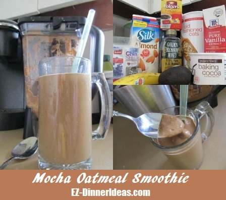 Mocha Oatmeal Smoothie saying it is irresistible most likely is an understatement.  Oh yes, it is that goooood....