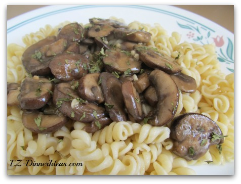 Mushroom stroganoff is not only a vegetarian version of beef stroganoff, but also a much, much healthier version.