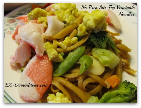 My Personalized Version of No Prep Stir-Fry Vegetables Noodles