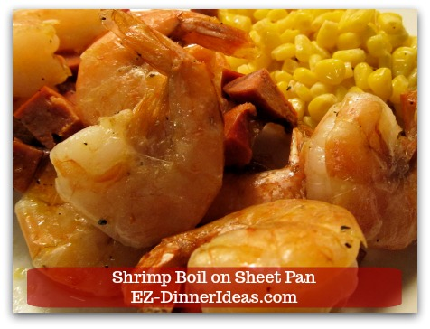 One-Pan Roasted Chorizo Sausage and Shrimp Bake