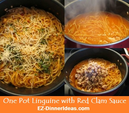 One Pot Linguine with Red Clam Sauce is another pantry recipe on your list.