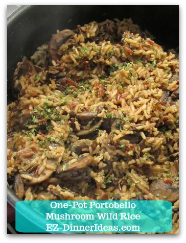 One-Pot Portobello Mushroom Wild Rice