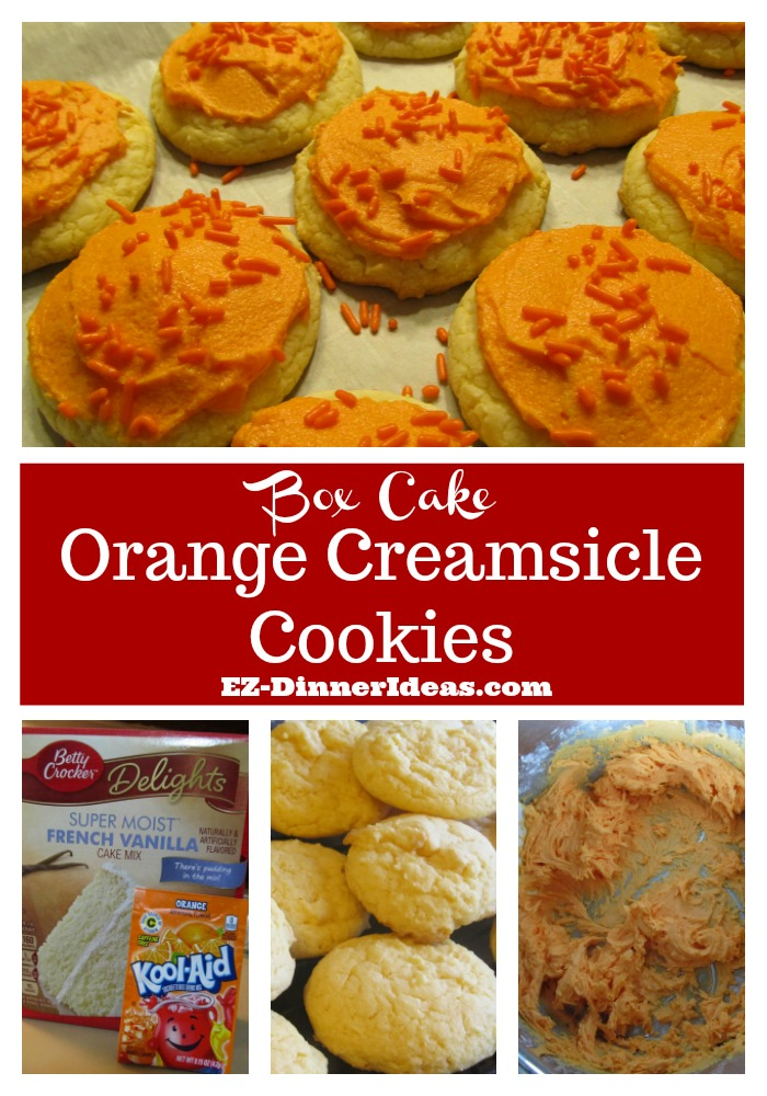 Easy Cake Mix Cookies Recipe | Orange Creamsicle Cookies