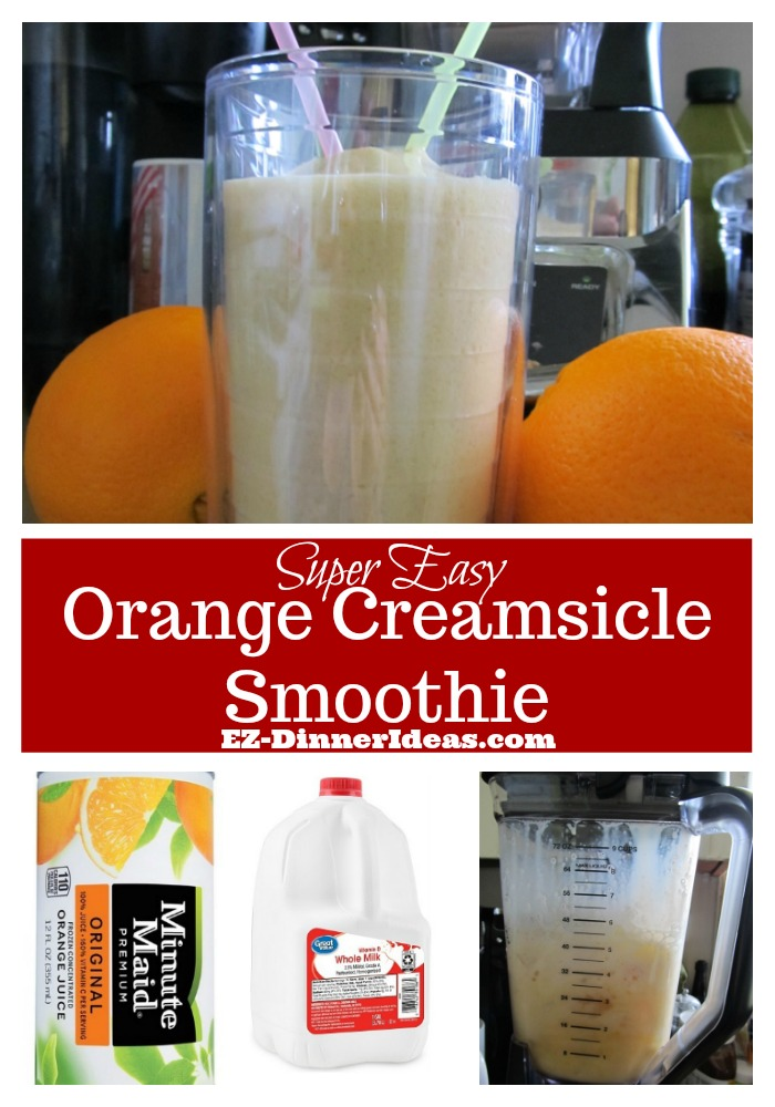 This orange creamsicle smoothie recipe is very versatile.  It can be a dessert or a refreshing drink on the road.  Delicious and super economical.