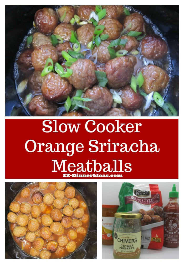 Slow Cooker Orange Sriracha Meatballs