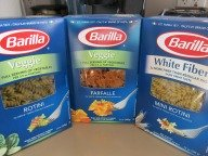 Other than whole grain or whole wheat pasta, there are also veggie and white fiber to choose from.