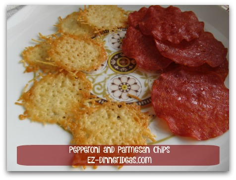 Pepperoni and Parmesan Chips
