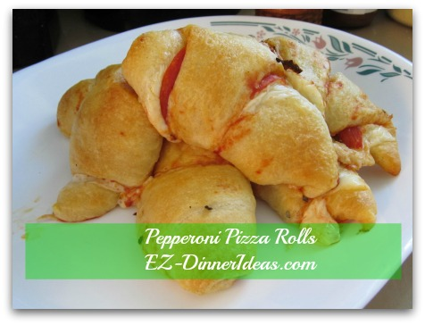 Pepperoni Pizza Rolls like pepperoni pizza to-go in a much easy way and less mess to clean up.  Great for breakfast, snacks and even dinner to-go for busy families.