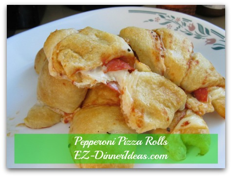 Ummm....Yummy Pepperoni Pizza Rolls