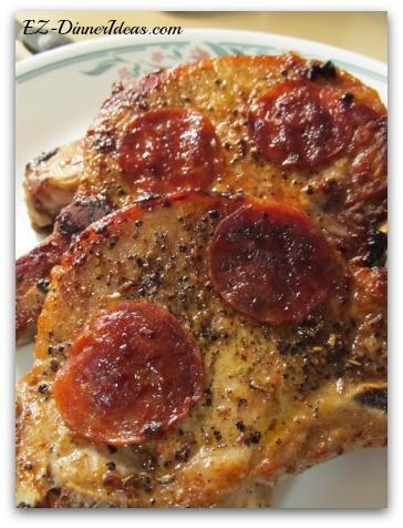 Pepperoni Pork Chops