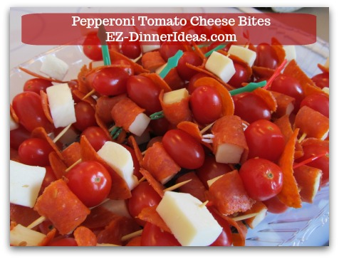 Cheese Finger Food | Pepperoni Tomato Cheese Bites - This recipe is very creative, beautiful and delicious. You can even prepare this appetizer with your little helpers.