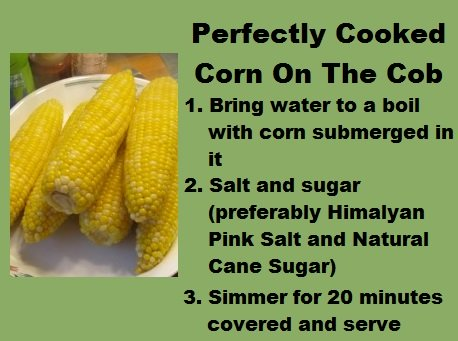Perfectly Cooked Corn On The Cob