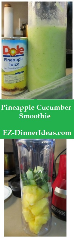 Pineapple Cucumber Smoothie