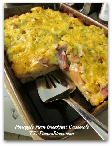 Pineapple Ham Breakfast Casserole