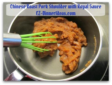 Crockpot Pork Roast Recipe - Using cooking liquid to make roux