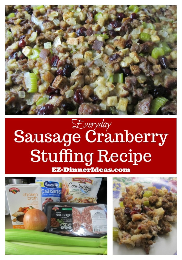 Sausage Cranberry Stuffing Recipe