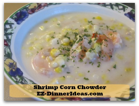Shrimp Corn Chowder, a soup recipe filled with tons of seafood to enjoy instead of potatoes and carb.