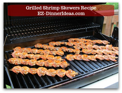 Grilled shrimp at home look much better than you pay top dollar in a fancy restaurant