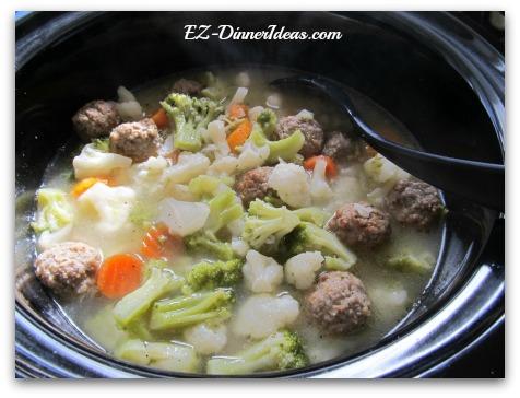 Slow Cooker California Blend Vegetable Soup