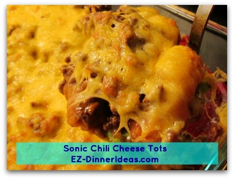 Sonic Chili Cheese Tots - Hmmm....better than buying it from the food chain, right?