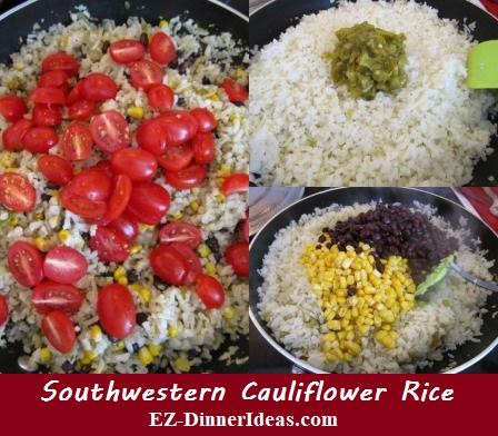 Southwestern Cauliflower Rice, a flavorful, beautiful and super healthy vegetarian recipe.  Irresistible!!!