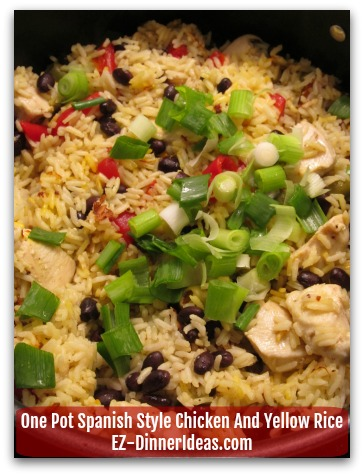 One Pot Spanish Style  Chicken And Yellow Rice NOT From The Box, But From Scratch It's That Easy