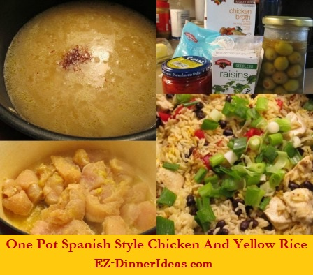 One Pot Spanish Style Chicken And Yellow Rice, staying at home to enjoy a different cuisine is just this easy.