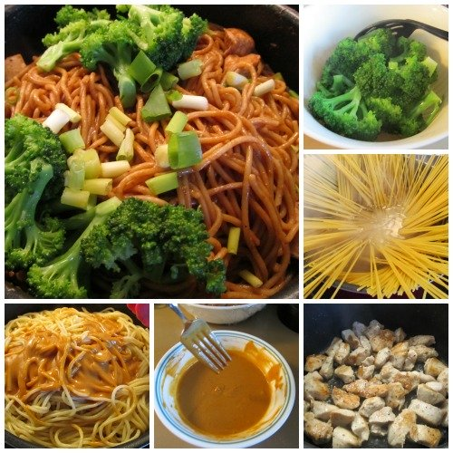 Spicy Peanut Chicken Broccoli Spaghetti Stir-Fry is a recipe, not only for those love Chinese food, but also those love peanut butter.  This is way better than PB&J sandwich.