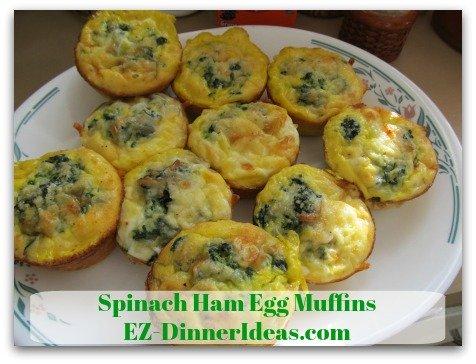 Spinach Ham Egg Muffins