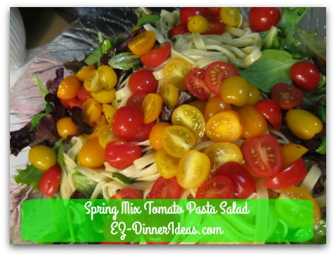 Spring Mix Tomato Pasta Salad - You can bring spring to your dining table