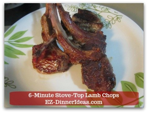 Easy Lamb Chop Recipe | 6-Minute Stove-Top Lamb Chops -  Rest for 3-5 minutes and ENJOY!