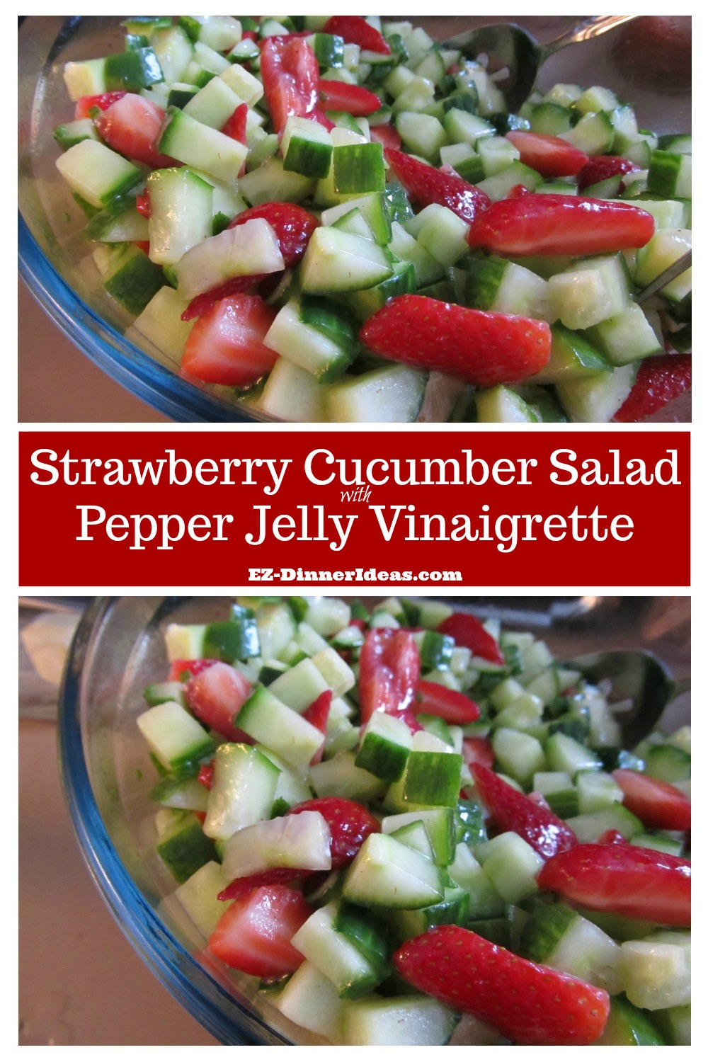 Strawberry salad recipe is a beautiful, refreshing and yummy salad using the ingredients in the season.  How could you resist it?