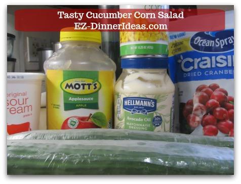 Best Cucumber Salad Recipe | Tasty Cucumber Corn Salad - 6 main ingredients, dressing included, make this salad.