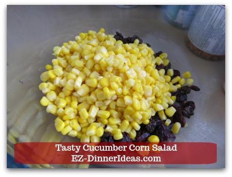 Best Cucumber Salad Recipe | Tasty Cucumber Corn Salad - Then top it with corn kernels.