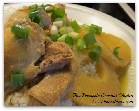 Thai Pineapple Coconut Chicken