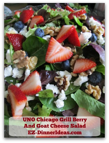 UNO Chicago Grill Berry And Goat Cheese Salad - Can't get over how pretty this salad is.