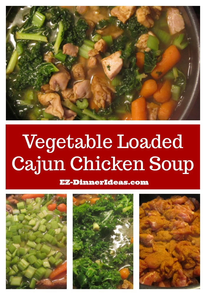 Vegetable Loaded Cajun Chicken Soup