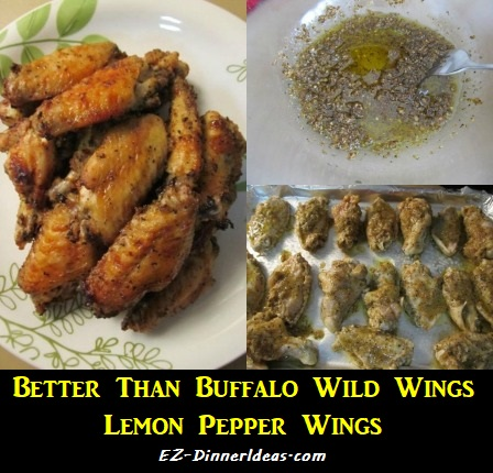 Better Than Buffalo Wild Wings Lemon Pepper Wings, oven roasted and low maintenance.  Great for game night and dinner party.